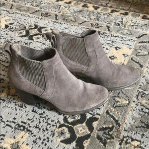 UGG booties. Genuine Grey Suede